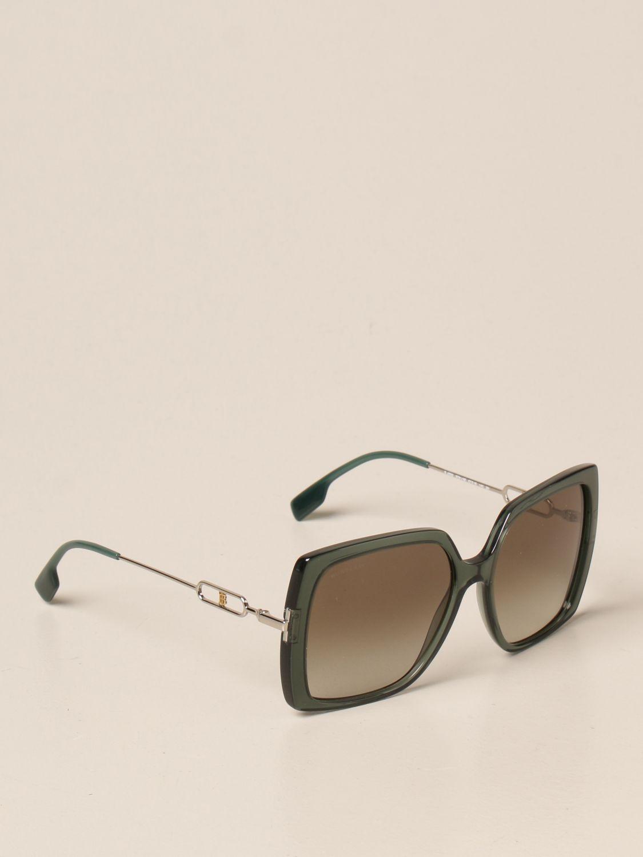 Солнцезащитные очки Burberry: Солнцезащитные очки Женское Burberry зеленый 1
