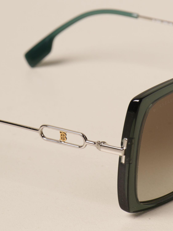 Солнцезащитные очки Burberry: Солнцезащитные очки Женское Burberry зеленый 4