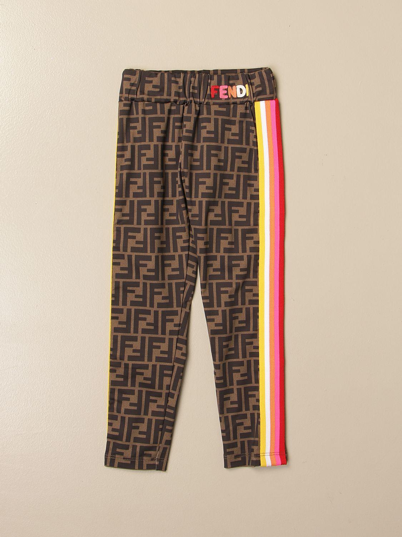 Pants Fendi: Fendi leggings with all-over FF Fendi logo multicolor 1
