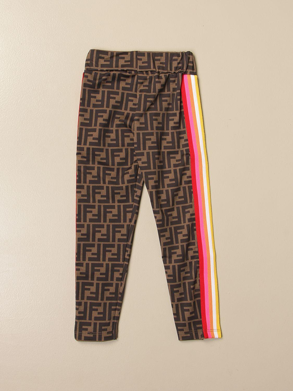 Pants Fendi: Fendi leggings with all-over FF Fendi logo multicolor 2