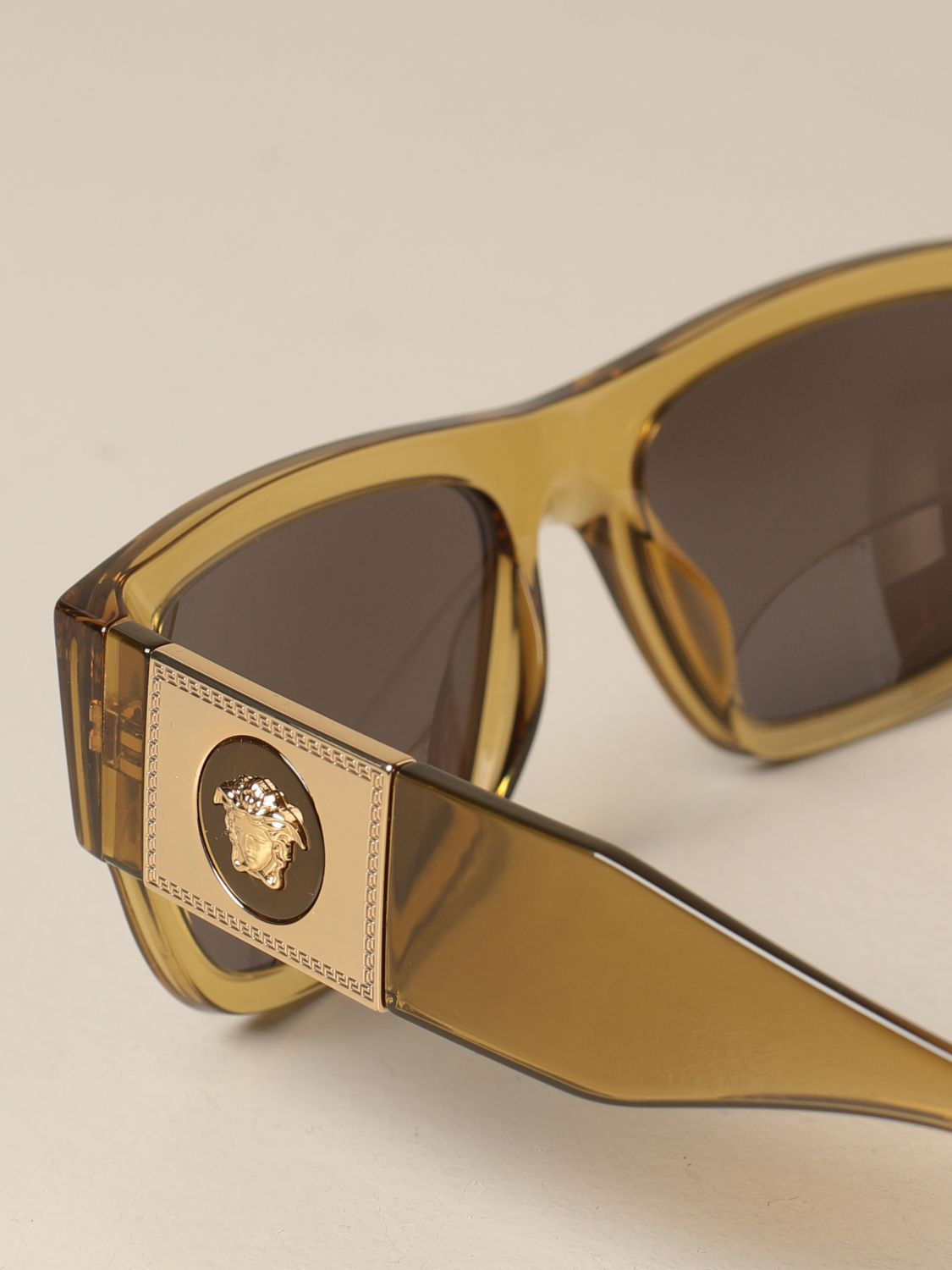 Glasses Versace: Versace sunglasses in acetate with a medusa head green 4