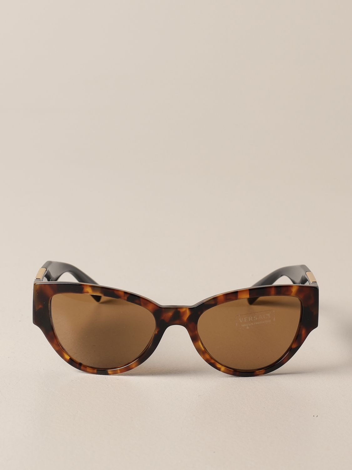 Glasses Versace: Versace sunglasses in acetate with a medusa head brown 2