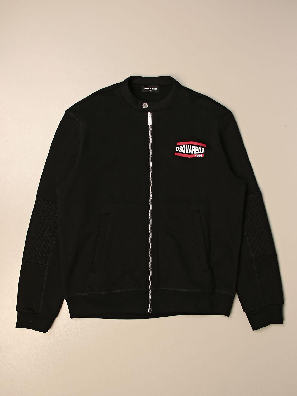 Куртка Dsquared2 Junior: Свитер Детское Dsquared2 Junior черный 1