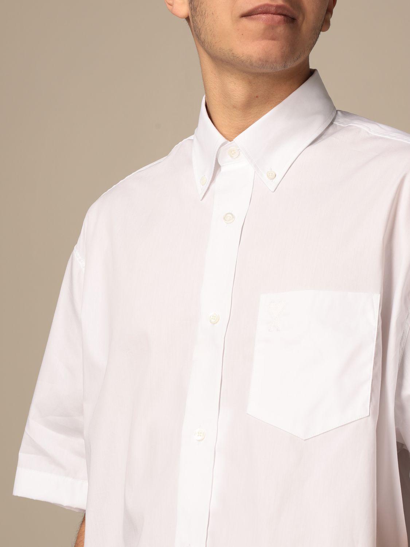 Shirt Ami Alexandre Mattiussi: Ami Alexandre Mattiussi cotton shirt white 4