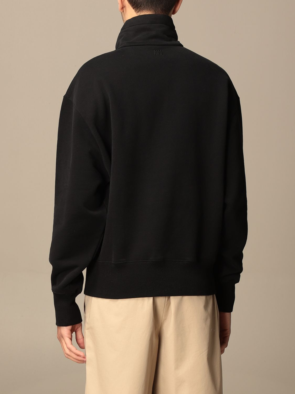 Sweatshirt Ami Alexandre Mattiussi: Sweatshirt men Ami Alexandre Mattiussi black 3