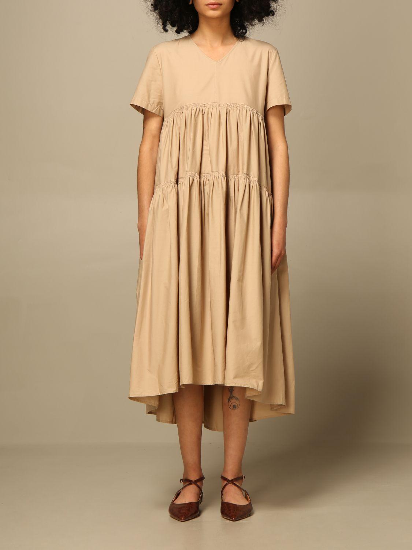 Kleid Semicouture: Kleid damen Semicouture beige 1