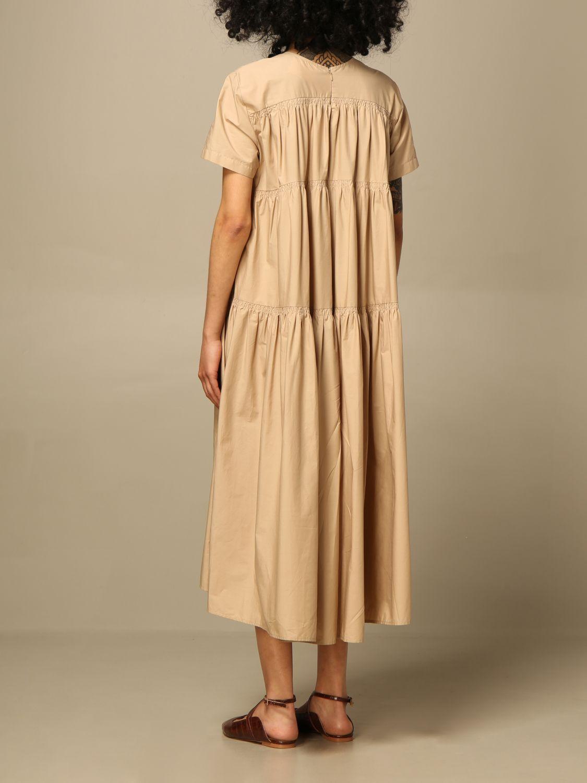 Kleid Semicouture: Kleid damen Semicouture beige 2