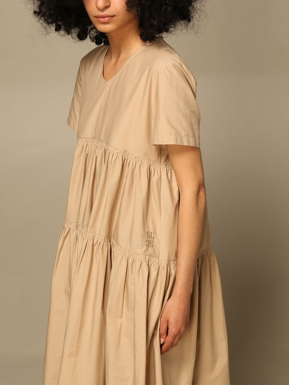 Kleid Semicouture: Kleid damen Semicouture beige 3