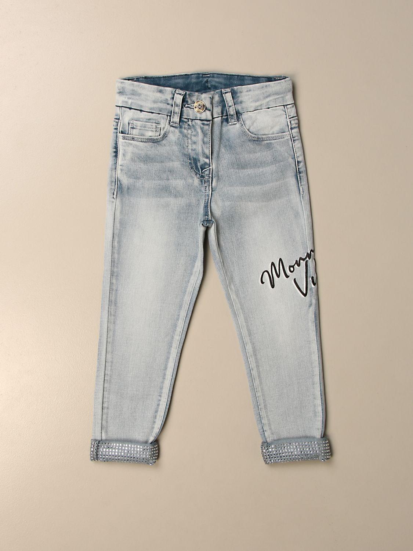 牛仔裤 Monnalisa: 牛仔裤 儿童 Monnalisa 牛仔布 1