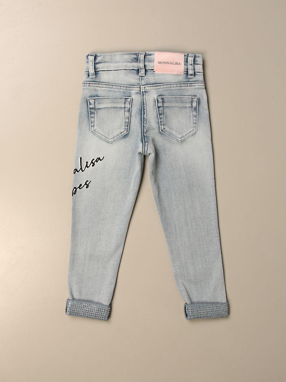 牛仔裤 Monnalisa: 牛仔裤 儿童 Monnalisa 牛仔布 2