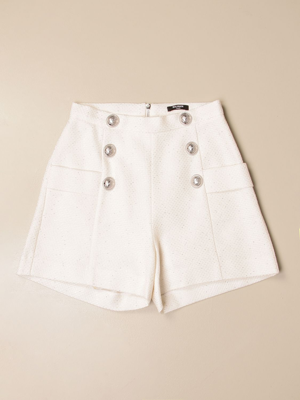 Pantalones cortos Balmain: Pantalones cortos niños Balmain marfil 1