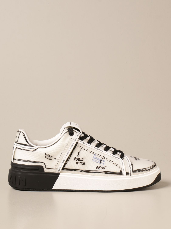 Sneakers Balmain: Balmain sneakers in pvc with prints white 1
