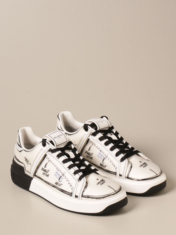 Sneakers Balmain: Balmain sneakers in pvc with prints white 2
