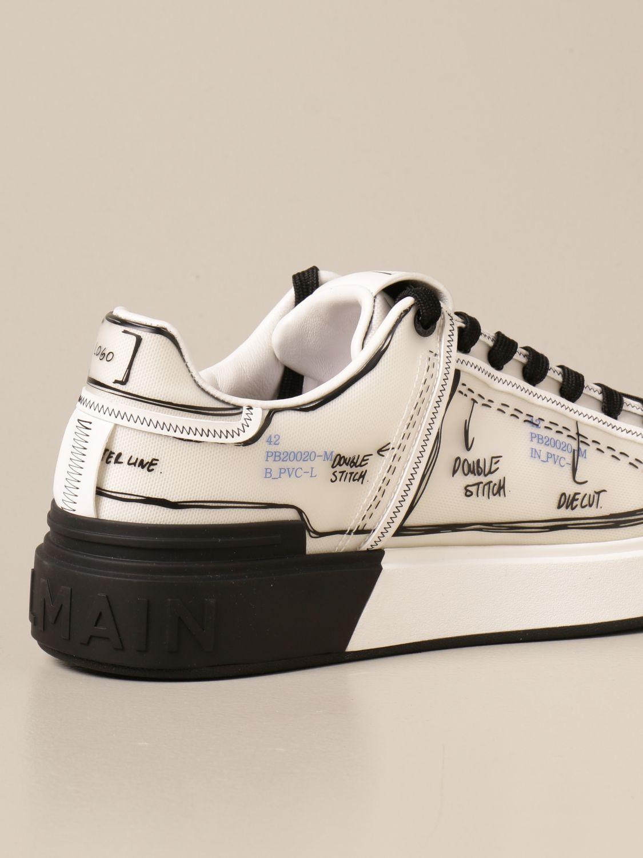 Sneakers Balmain: Balmain sneakers in pvc with prints white 3