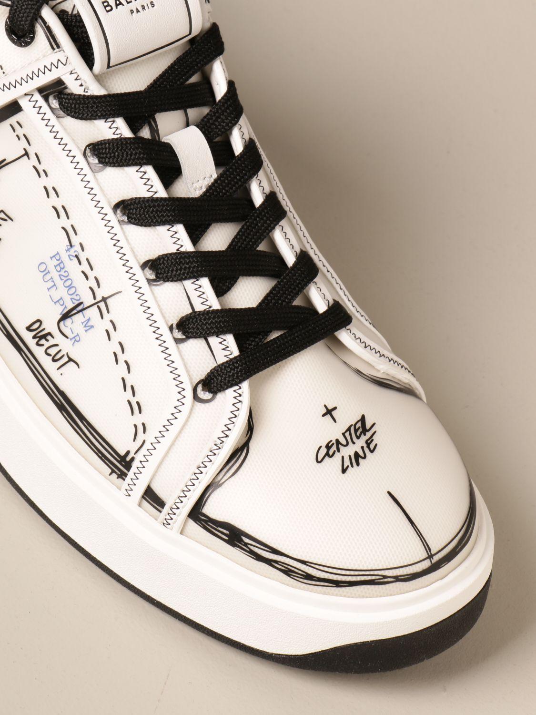 Sneakers Balmain: Balmain sneakers in pvc with prints white 4
