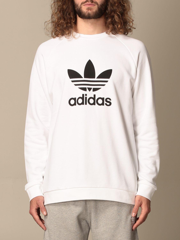 Sweatshirt Adidas Originals: Adidas Originals crewneck sweatshirt with logo white 1