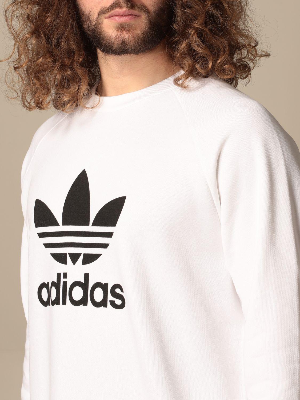 Sweatshirt Adidas Originals: Adidas Originals crewneck sweatshirt with logo white 3