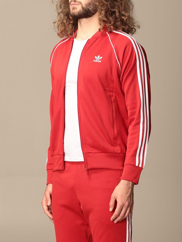 Sweatshirt Adidas Originals: Sweatshirt homme Adidas Originals rouge 4