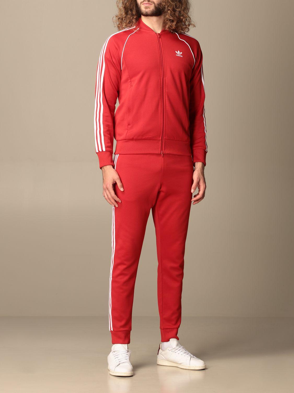Pantalone Adidas Originals: Pantalone jogging Adidas Originals con logo rosso 2