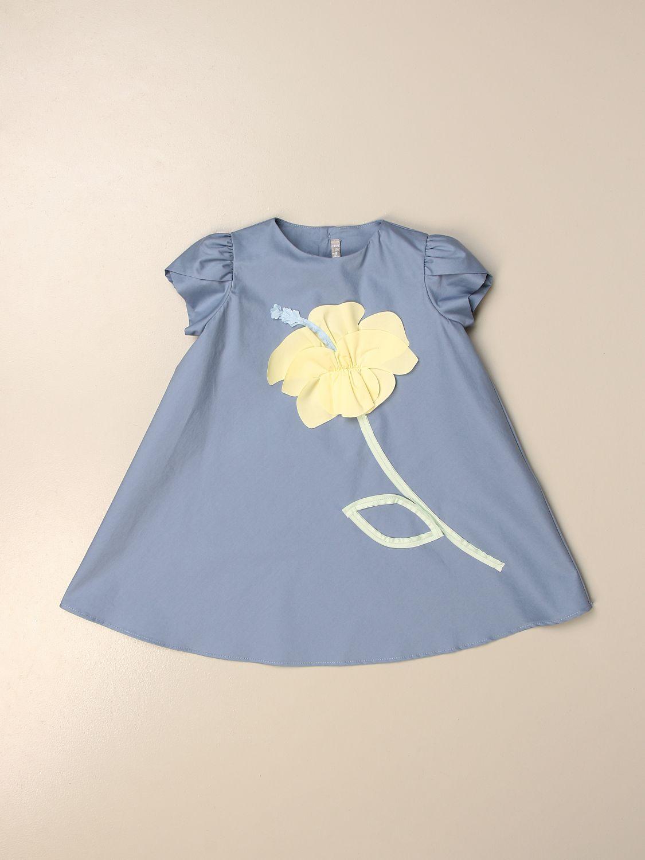 Vestido Il Gufo: Vestido niños Il Gufo azul claro 1