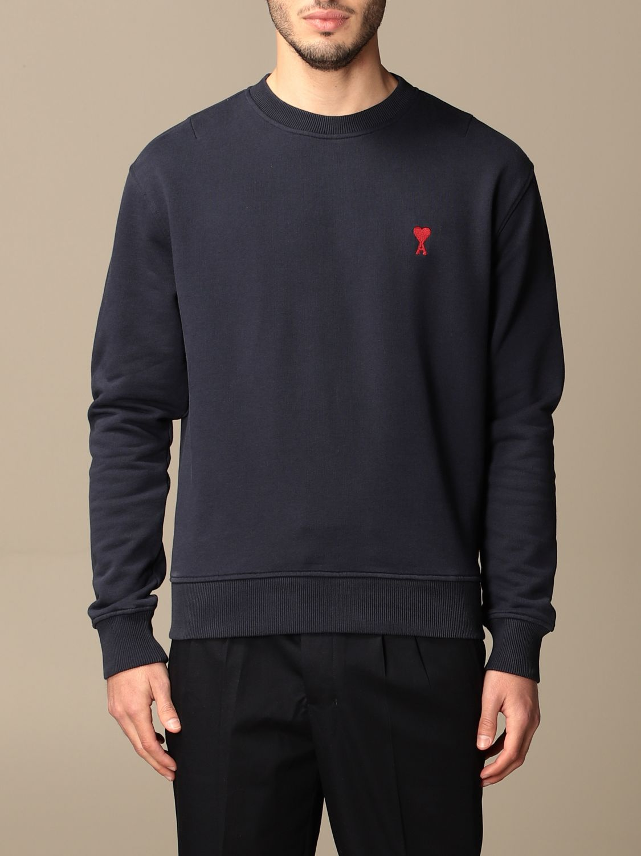 Sweatshirt Ami Alexandre Mattiussi: Sweatshirt men Ami Alexandre Mattiussi navy 1