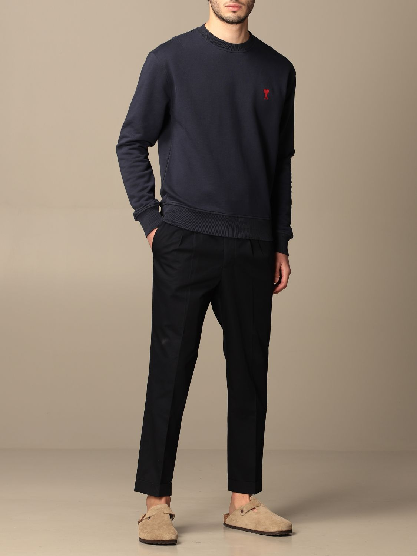 Sweatshirt Ami Alexandre Mattiussi: Sweatshirt men Ami Alexandre Mattiussi navy 2