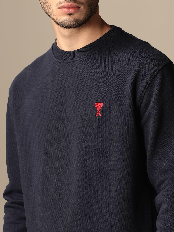 Sweatshirt Ami Alexandre Mattiussi: Sweatshirt men Ami Alexandre Mattiussi navy 4