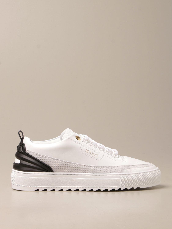 Sneakers Mason Garments: Sneakers Firenze Mason Garments in pelle bianco 1