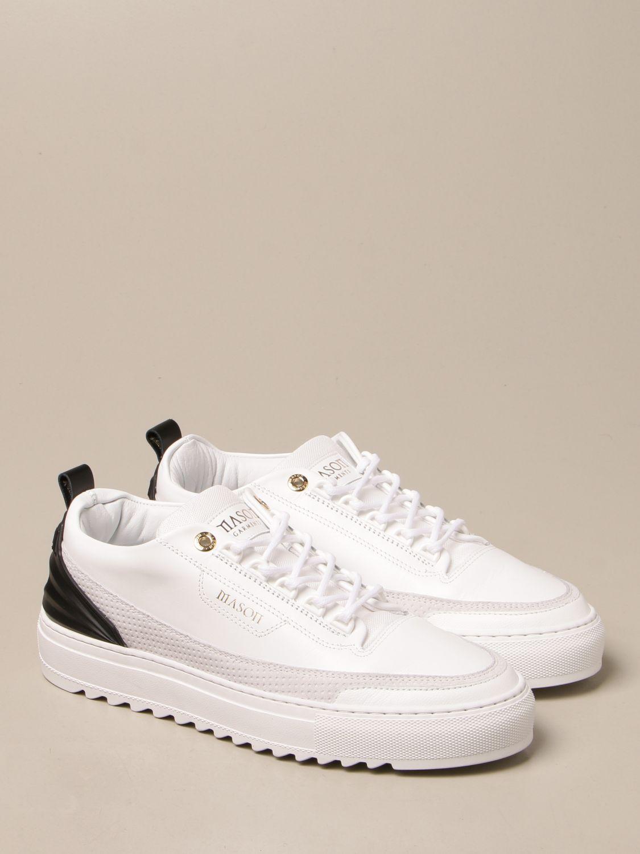 Sneakers Mason Garments: Sneakers Firenze Mason Garments in pelle bianco 2