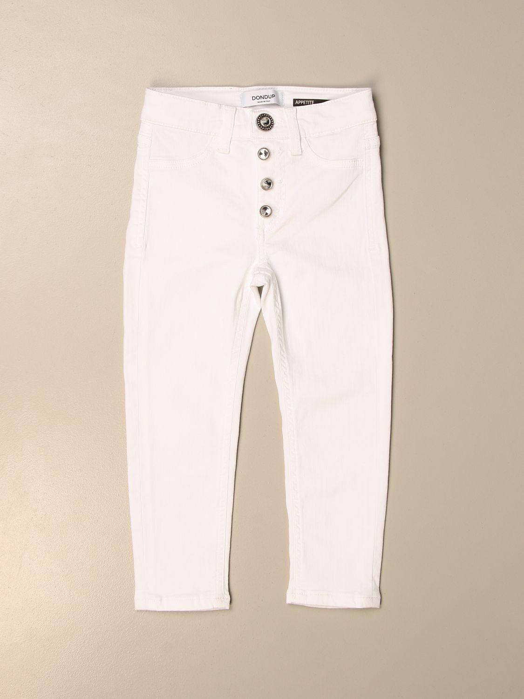 Pantalón Dondup: Pantalón niños Dondup blanco 1