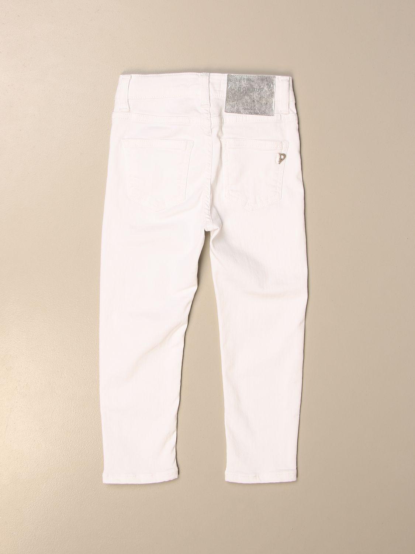 Pantalón Dondup: Pantalón niños Dondup blanco 2