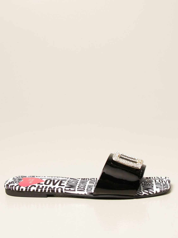 Flache Sandalen Love Moschino: Sandalen mit absatz damen Love Moschino schwarz 1