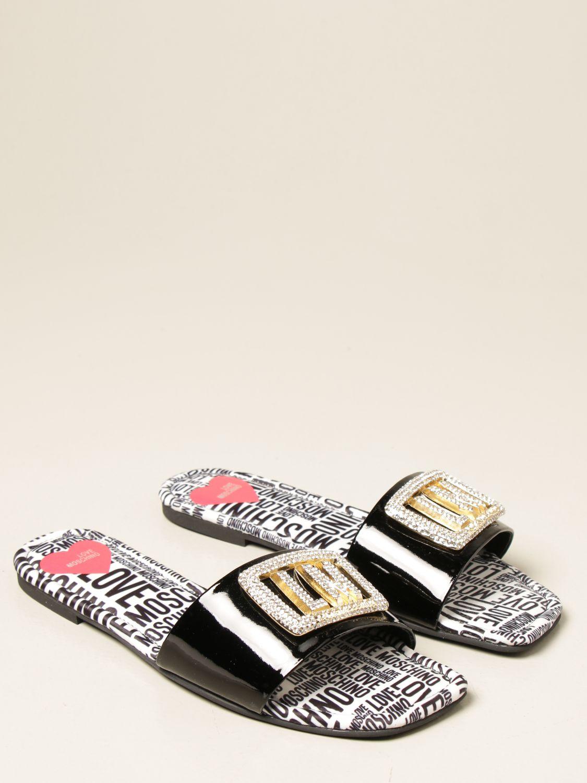 Flache Sandalen Love Moschino: Sandalen mit absatz damen Love Moschino schwarz 2