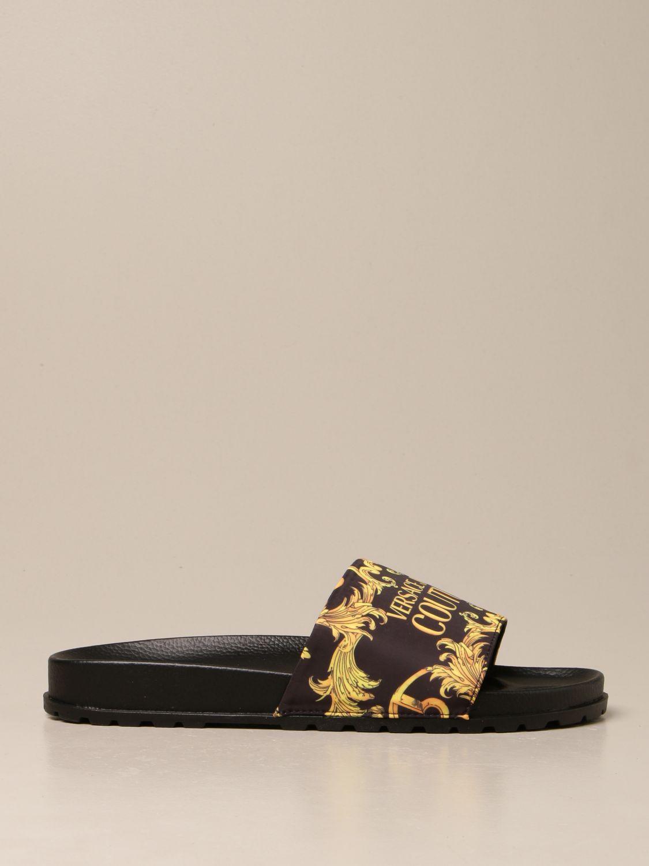 Sandals Versace Jeans Couture: Shoes men Versace Jeans Couture black 1