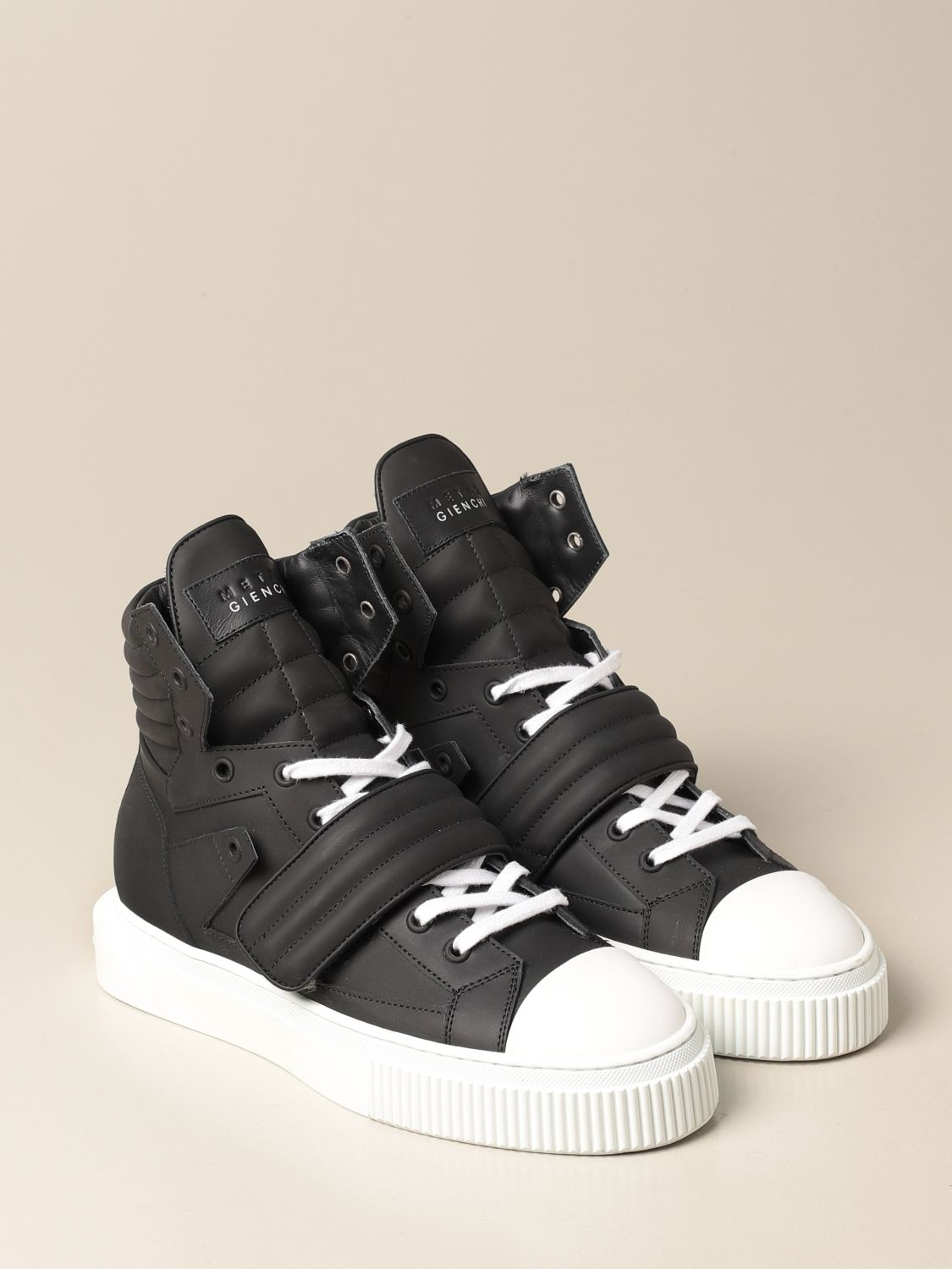 Sneakers Gienchi: Sneakers Hypnos Gienchi in pelle gommata nero 2