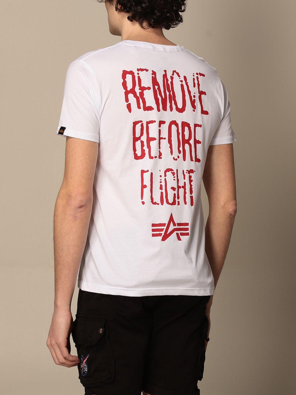T-shirt Alpha Industries: T-shirt Alpha Industries in cotone con stampe bianco 2