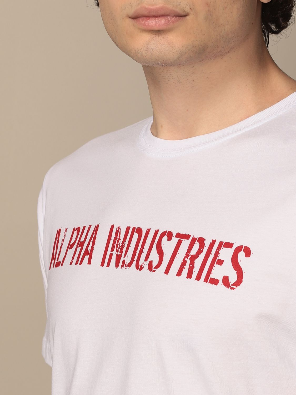 T-shirt Alpha Industries: T-shirt Alpha Industries in cotone con stampe bianco 3