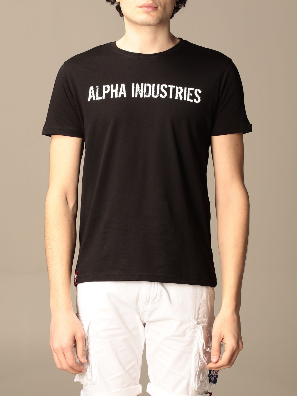 T-shirt Alpha Industries: Alpha Industries t-shirt in cotton with prints black 1