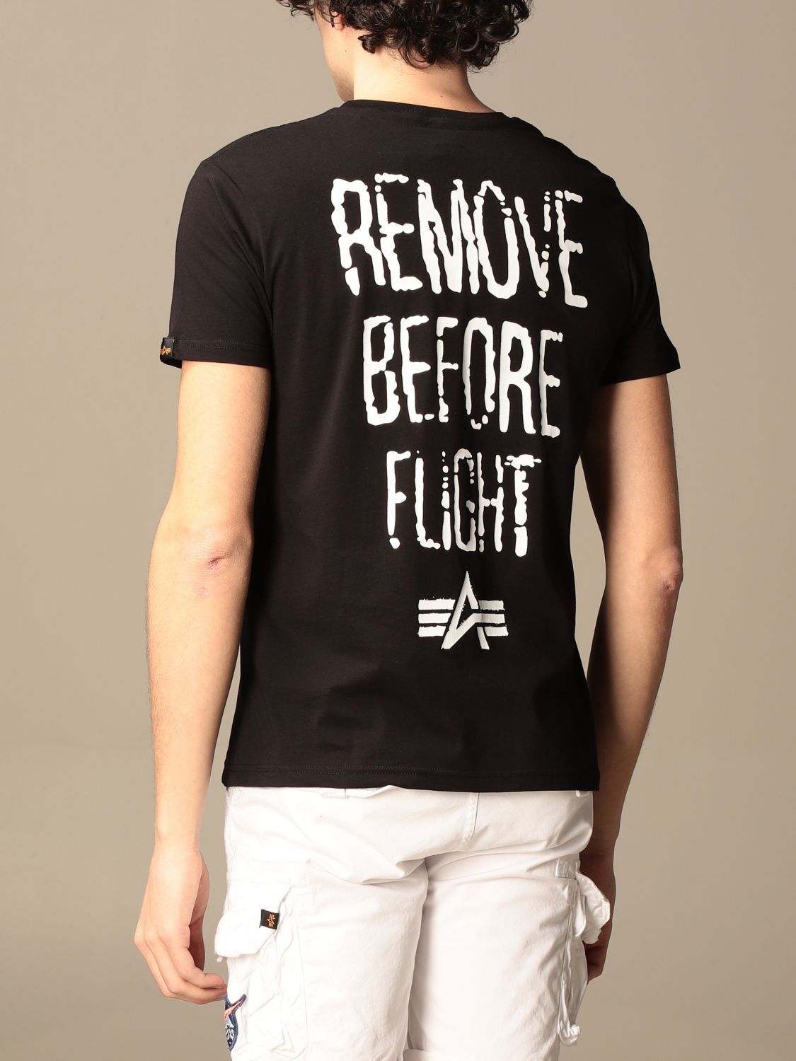 T-shirt Alpha Industries: Alpha Industries t-shirt in cotton with prints black 2