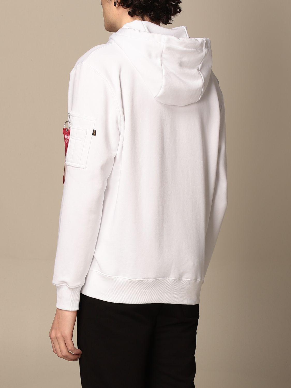Sweatshirt Alpha Industries: Sweatshirt homme Alpha Industries blanc 2
