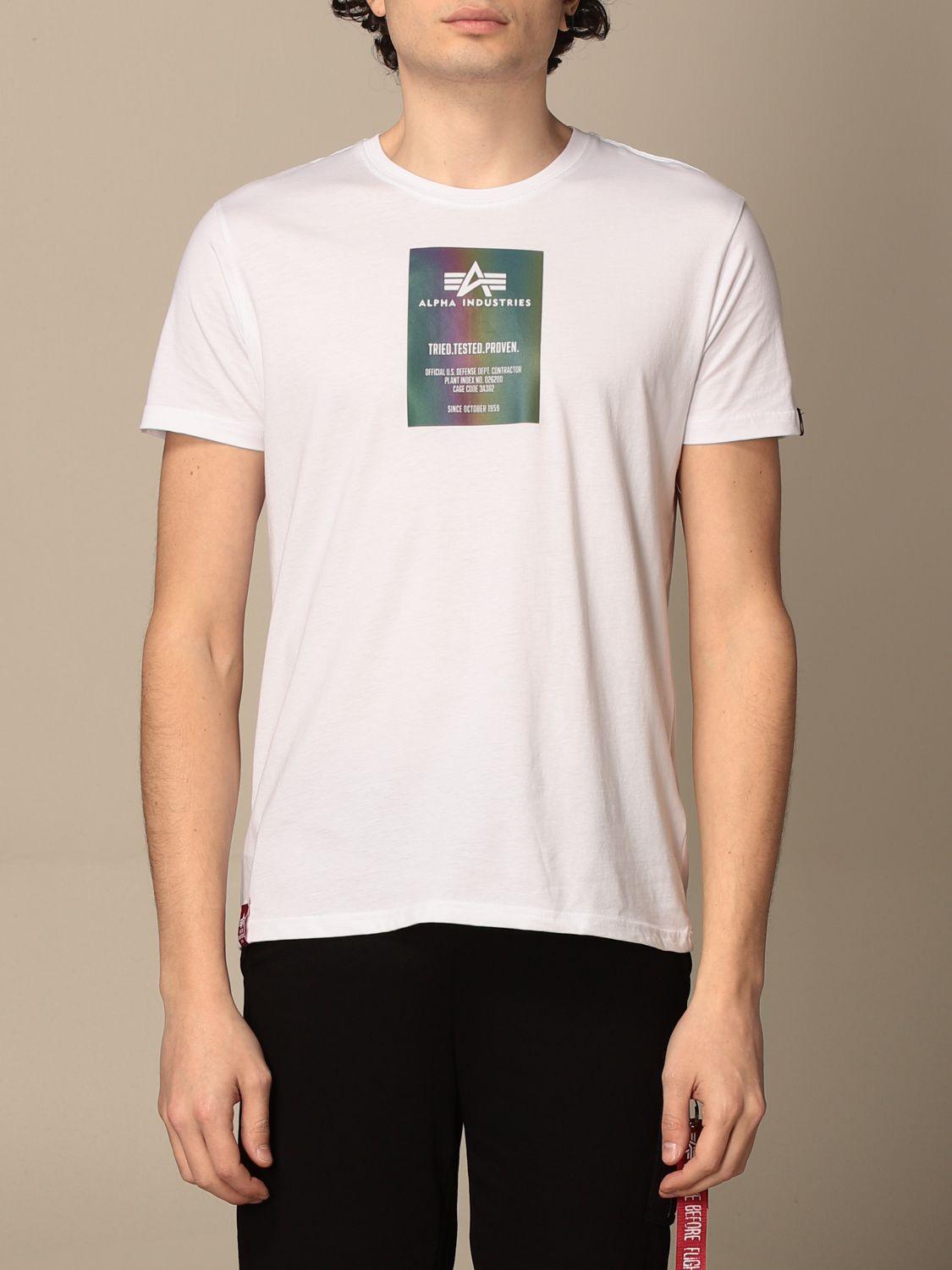 T-shirt Alpha Industries: T-shirt men Alpha Industries white 1