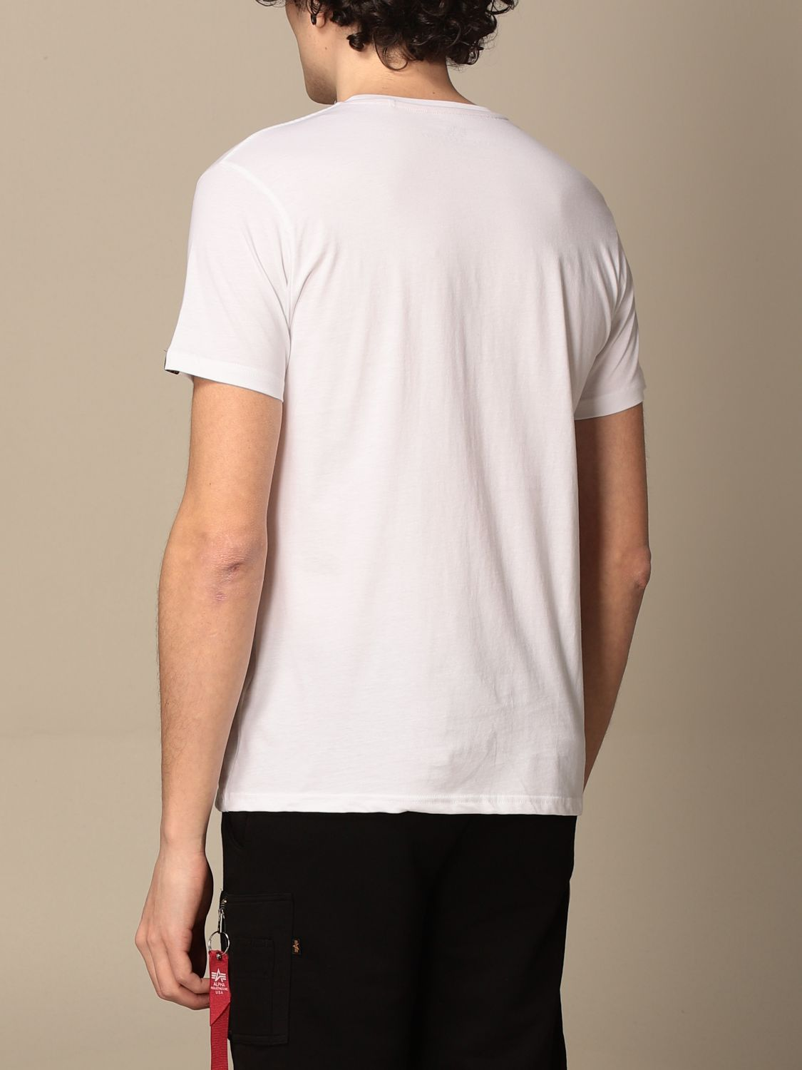 T-shirt Alpha Industries: T-shirt men Alpha Industries white 2