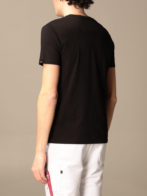 T-shirt Alpha Industries: T-shirt Alpha Industries in cotone con logo nero 2