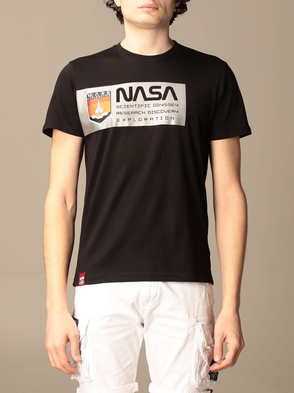 T-shirt Alpha Industries: T-shirt men Alpha Industries black 1