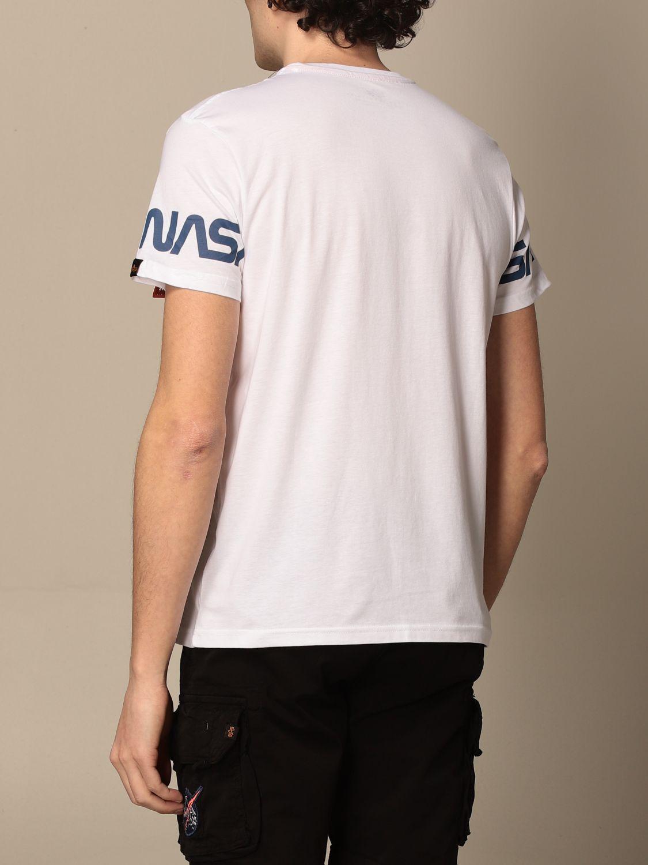 T-shirt Alpha Industries: T-shirt Alpha Industries in cotone con stampa Nasa bianco 2