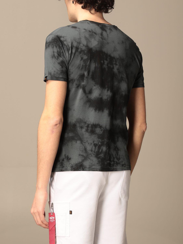T-shirt Alpha Industries: T-shirt Alpha Industries in cotone tie dye grigio 2