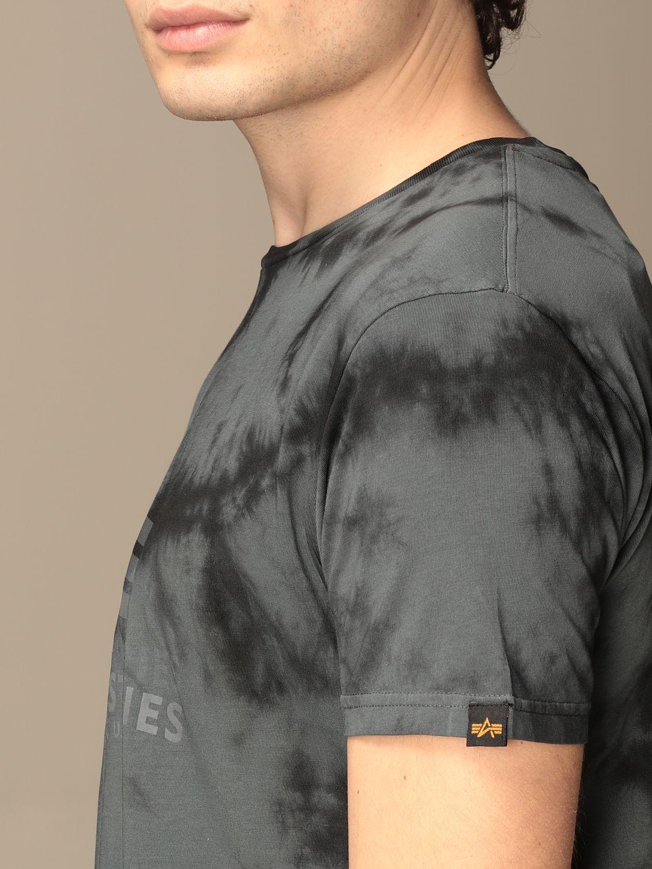 T-shirt Alpha Industries: T-shirt Alpha Industries in cotone tie dye grigio 3