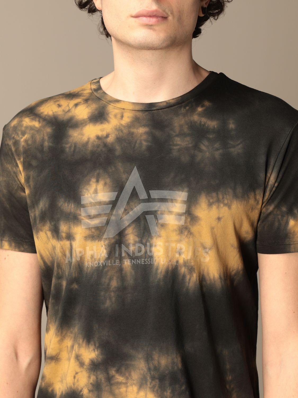 T-shirt Alpha Industries: Alpha Industries t-shirt in tie dye cotton brown 3