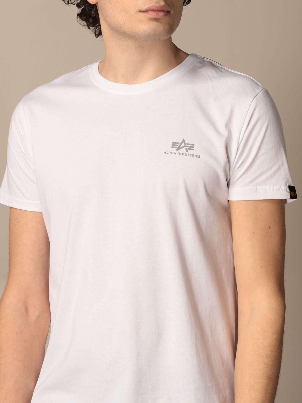 T-shirt Alpha Industries: T-shirt men Alpha Industries white 3