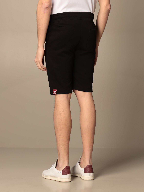Pantaloncino Alpha Industries: Pantaloncino jogging Alpha Industries con logo Nasa nero 2